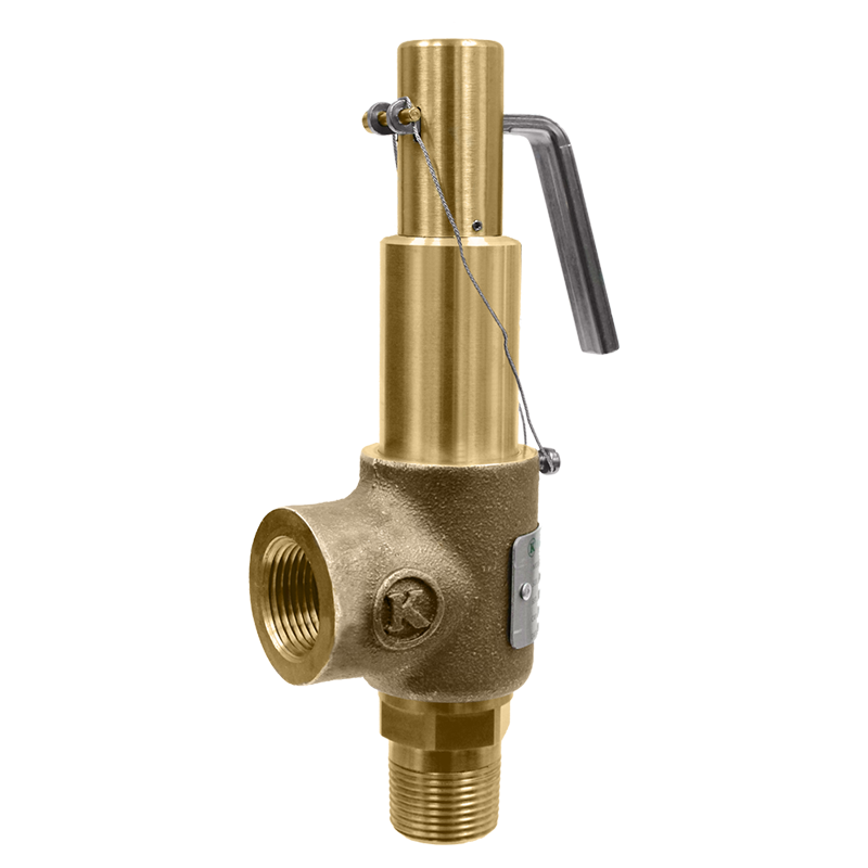 3//4 Inlet x 1 Outlet Open Lever Brass Body and Trim Kingston Valves 710D56S1K1-125 Model 710 Safety Valve 125 psi 3//4 Inlet x 1 Outlet D Orifice ASME Section VIII Air//Gas Silicone Disc