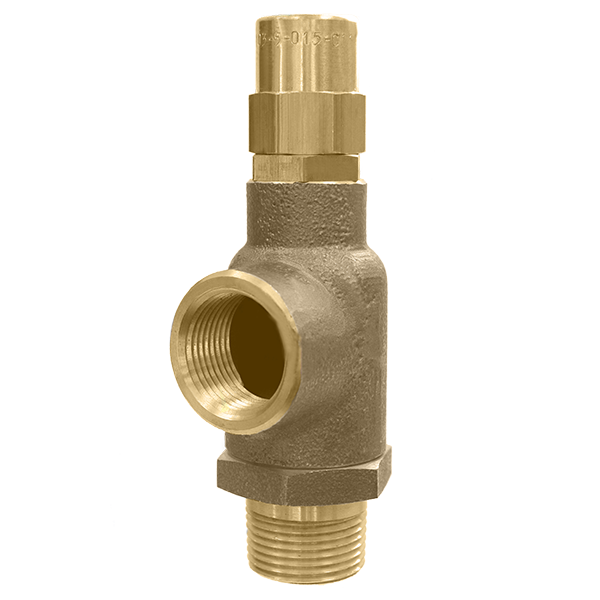 103 Brass Side Relief Outlet Valve