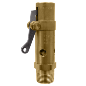 1//2 Inlet x 1 Outlet Open Lever ASME Section VIII Air//Gas 225 psi 1//2 Inlet x 1 Outlet Buna-N Disc Kingston Valves 710D46N1K1-225 Model 710 Safety Valve Brass Body and Trim D Orifice