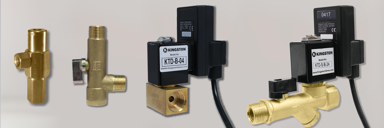 Kingston Valves KTD Website Banner timer drain valves
