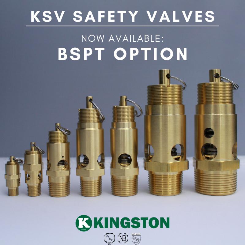 Kingston KSV Collection Soft Seat Safety Valves BSPT