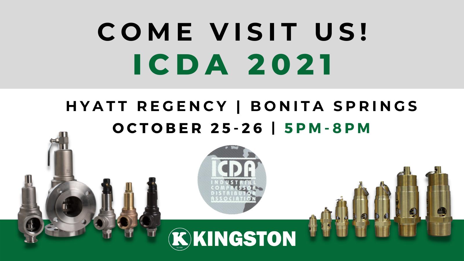 KINGSTON VALVES ICDA 2021 41st Annual ICDA Meeting & Trade Show